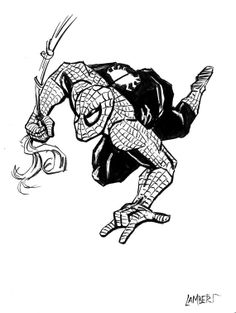 Original Marvel Spiderman Comic Art Sketch  by AtelierLambert, $9.99