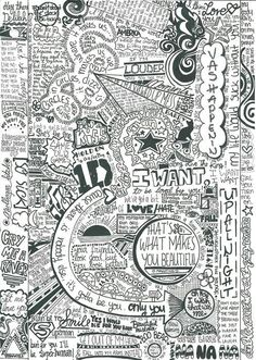 One direction art. how does anyone have enough time to do this?!!:-)