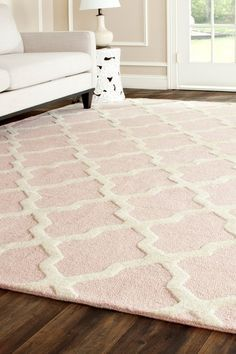 Delicieux Light Pink And White Rug   Google Search