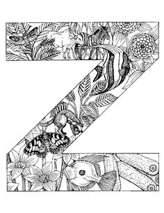 animal alphabet letter z coloring pages printable and coloring book to print for free. Find more coloring pages online for kids and adults of animal alphabet letter z coloring pages to print. Preschool Coloring Pages, Cool Coloring Pages, Animal Coloring Pages, Free Printable Coloring Pages, Coloring Pages For Kids, Animal Alphabet, Alphabet Letters To Print, Alphabet Names, Printable Alphabet