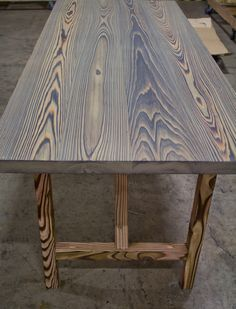 "shou-sugi-ban charred table by RSTco. - hardwax oil finish called ""DORO"""