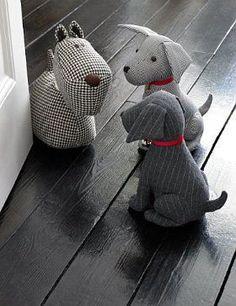 Muito fofos, não, estes pesos de porta?