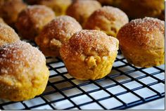 Pumpkin Spice Mini Muffins are sweet and poppable. The perfect fall treat! | iowagirleats.com