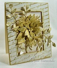 Clear Crackle French Script Floral by kittie747 - Cards and Paper Crafts at Splitcoaststampers
