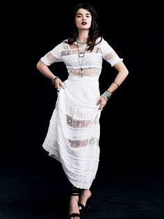 Free People Mix In The Crochet Dress, 198.00