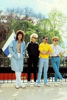 Queen, before the 'golden Rose' Festival - on May 11th, 1986. — in Montreux, Switzerland.
