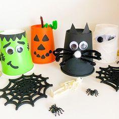 Halloween Cups, Halloween Crafts, Super Easy, Planter Pots, Paper Cups, Fun, Kids, Crafting, Instagram