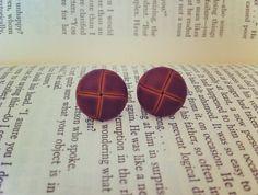 Vintage Brown Earrings by ShortPresents on Etsy, $12.25