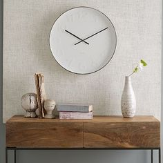 Mr. White Wall Clock #WestElm