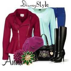 """""""Disney Style : Anna"""" by missm26 on Polyvore - -  i might have to wear this for lulu's birthday!"""