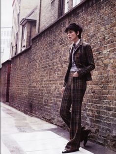 Stella Tennant Uk Vogue - she looks like Ben Whishaw here...