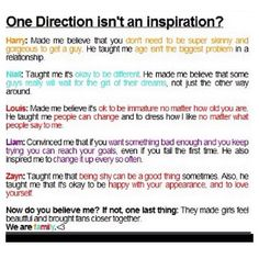 You better shut up and take it with the fandom if you think they are uninspirational