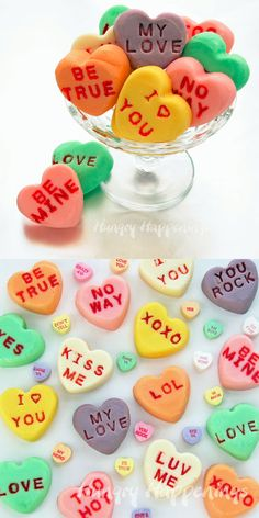 Conversation Heart Fudge - I love these! What a great way to create a really personalized Valentine's gift!