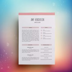 Resume Template 3 page | CV Template + Cover Letter for MS Word | Instant Digital Download | Editable CV Template | by TemplatesKingdom on Etsy
