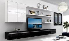 FSL36.121 | 3.6 metre floating entertainment unit in Deep Caviar Gloss