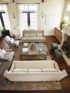 two facing sofas