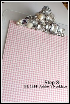 Blingy clipboard tutorial by Teresa Collins. Coolio!