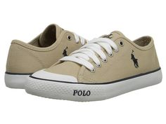 Polo Ralph Lauren Kids Carlisle (Big Kid) Khaki Canvas/Navy - Zappos.com Free Shipping BOTH Ways