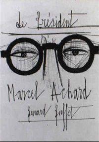 Marcel Achard by Bernard Buffet