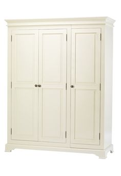 French Elegance 3 door off white wardrobe >> wardrobes from Wardrobe Wall, Triple Wardrobe, Wardrobe Door Designs, Wardrobe Drawers, Wooden Wardrobe, White Wardrobe, Wardrobe Doors, Wardrobe Ideas