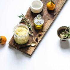 Orange Olive Oil Body Scrub - The perfect handmade body scrub for dry winter skin
