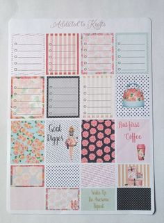 Goal Digger Planner Girl layout for your vertical/horizontal