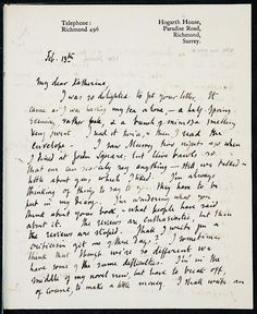 'I was so delighted to get your letter. It came as I was having my tea alone - a half-spring evening, rather pale, and a branch of mimosa smelling very sweet.' Virginia Woolf writes to Katherine Mansfield.