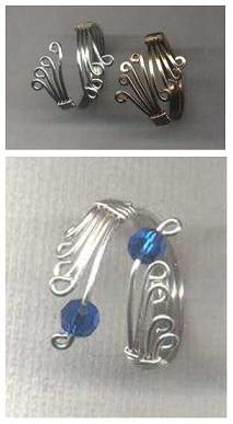 diy wire wrapped rings