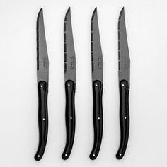 Couteau à viande lame noire Laguiole Jean Dubost ( AM.PM - Couverts
