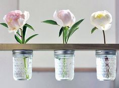 Hanging Flower Shelf - DIY Mason Jar Craft Idea