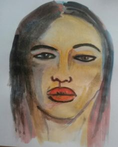 Marlene Dumas inspiration portrait watercolor