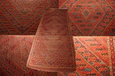 Amongst antique and decorative tribal rugs, ones made by Turkmen Beshir are the most sought after. The main attraction is their unusual geometric designs in the form of repetitive and many narrow bands in alternating colours. Although most of these splendid rugs have been subjected to years of usage and showing signs of wear, however their charming looks remain undiminished.