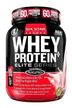 Six Star Pro Nutrition Elite Series Whey Protein Powder 2lb Strawberry - For Sale