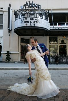 I love the theme this couple chose for their wedding! (especially since I'm a fan of the shows they incorporated - Doctor Who, Star Trek, & Firefly)