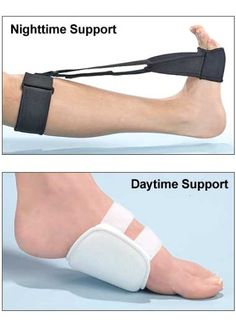 This plantar fasciitis splint was specifically designed to relieve foot and heel pain day and night by gently stretching your foot back while you sleep.