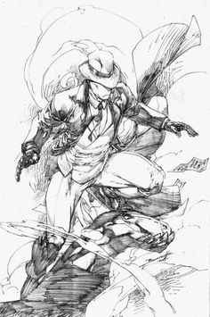 Superhero sketches by Brett Booth #comics #art