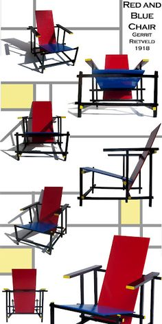 "gerrit rietveld - 1918 ""Red-Blue"" Chair"