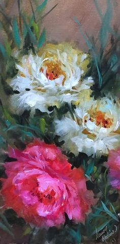 Flower Painting Canvas, Painting & Drawing, Watercolor Paintings, Canvas Art, Macro Flower, Flower Art, Paintings I Love, Painting Inspiration, Art Pictures