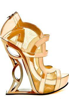 Metal Heel Gold Platform Sandal