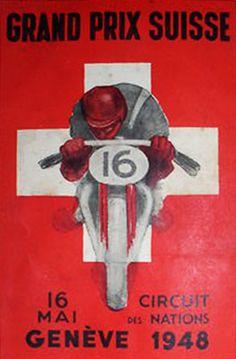 Grand Prix de Suisse Poster - 1948
