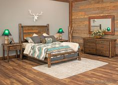 What A Beautiful Multi Colored Rustic Bedroom Outfit! Would Look Great In  Any Room, Whether Youu0027re Trying To Be More Modern Or Just Stay Rustic.