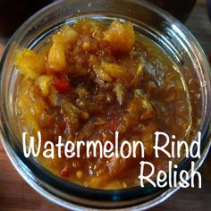 Watermelon Rind Relish - Attainable Sustainable Childhood memories burst with this! Now I need to find pickled watermelon rinds and I'm set! Relish Recipes, Chutney Recipes, Canning Recipes, Jam Recipes, Pickled Watermelon Rind, Watermelon Pickles, Watermelon Rind Preserves, Watermelon Recipes Vegan, Healthy Recipes
