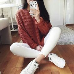 Image about fashion in mode /top / sweater / style / jumper / by 🍁🍂laurence🍂🍁 Teen Fashion, Winter Fashion, Fashion Outfits, Womens Fashion, Fashion Trends, Ootd Fashion, Fashion Photo, Mode Outfits, Casual Outfits