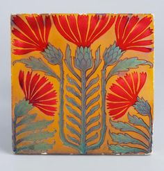 "design-is-fine: "" Floral tiles, Porcelain faience. Via Museum of Applied Arts, Budapest "" Azulejos Art Nouveau, Art Nouveau Tiles, Pottery Sculpture, Pottery Art, Tile Art, Mosaic Art, William Morris, Vintage Tile, Antique Tiles"