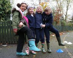 Local primary school St. Jude's are holding a fundraising BBQ for international development charity Farm Africa. St Jude's pupils in their wellies. #FarmAfrica #fundraising