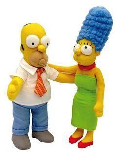 Peluches Los Simson Homer y Marge   Peluches Originales