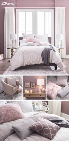 Looking for a bedroom refresh without the rennovation price tag? New bedding with matching sheets is an instant upgrade. A sumptuous duvet cover in soft blush paired with coordinating shams and faux fur accent pillows puts the pretty in your comfort zone. Layer things up with warm blankets and cozy Sundays with a good book may never be the same.
