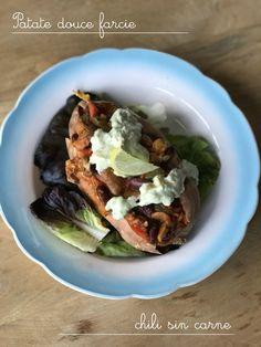 Patate douce farcie au chili sin carne (sans viande) – Mes brouillons de cuisine