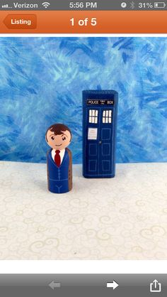 Doctor Who peg people by Makings from Mommyland on Etsy.