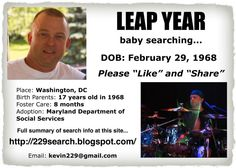 2-29-68 Washington DC  **Leap Year Baby**